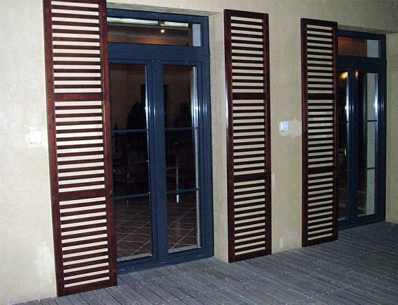 China european in swing solid wood aluminium clad entry for Solid wood patio doors
