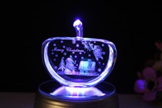 Crystal 3D Inner Laser Christmas Gift