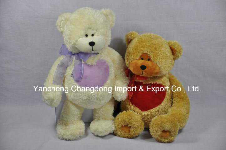 Plush Big Valentine Teddy Bear with Soft Heart Shape Stomach