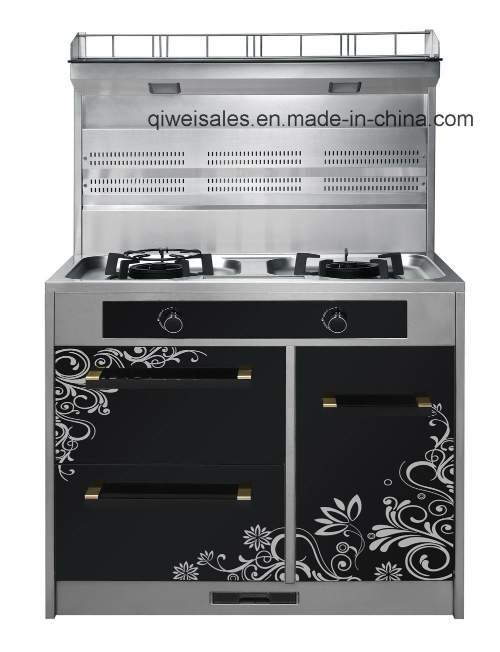 Integrated Cooker with Double Gas Stove (JCJZ-90A)