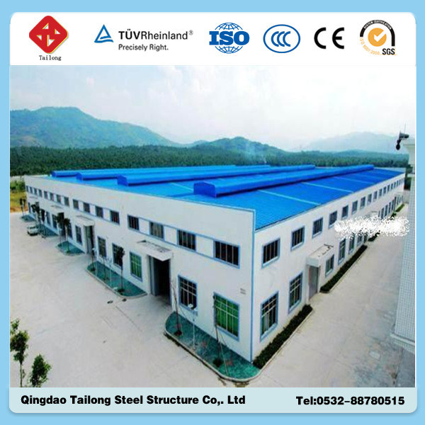 Prefab Building Large Span Light Steel Structure Workshop