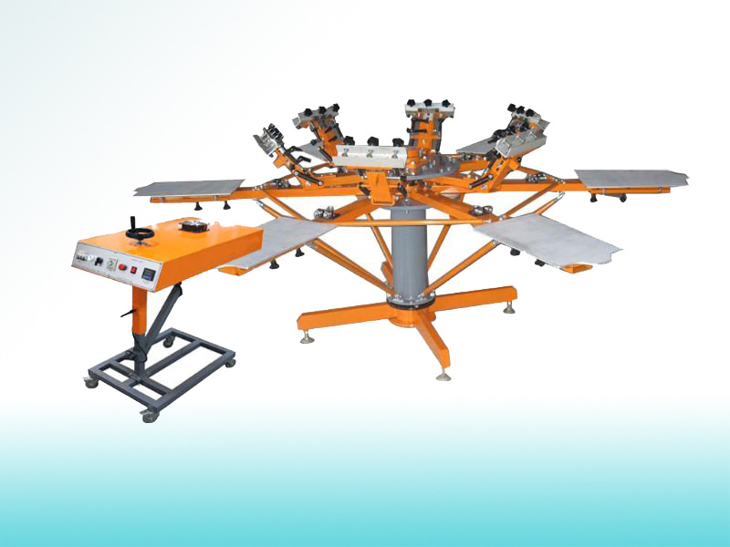 Manual Textile Carousel Screen Printing Machine  (SP-6C6SM)