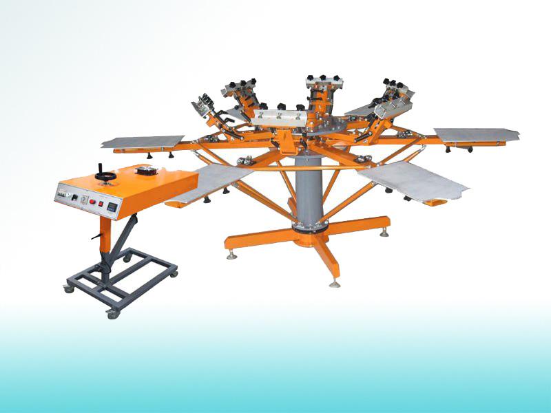 Manual Textile Carousel Screen Printing Machine (SP-6C6SM)