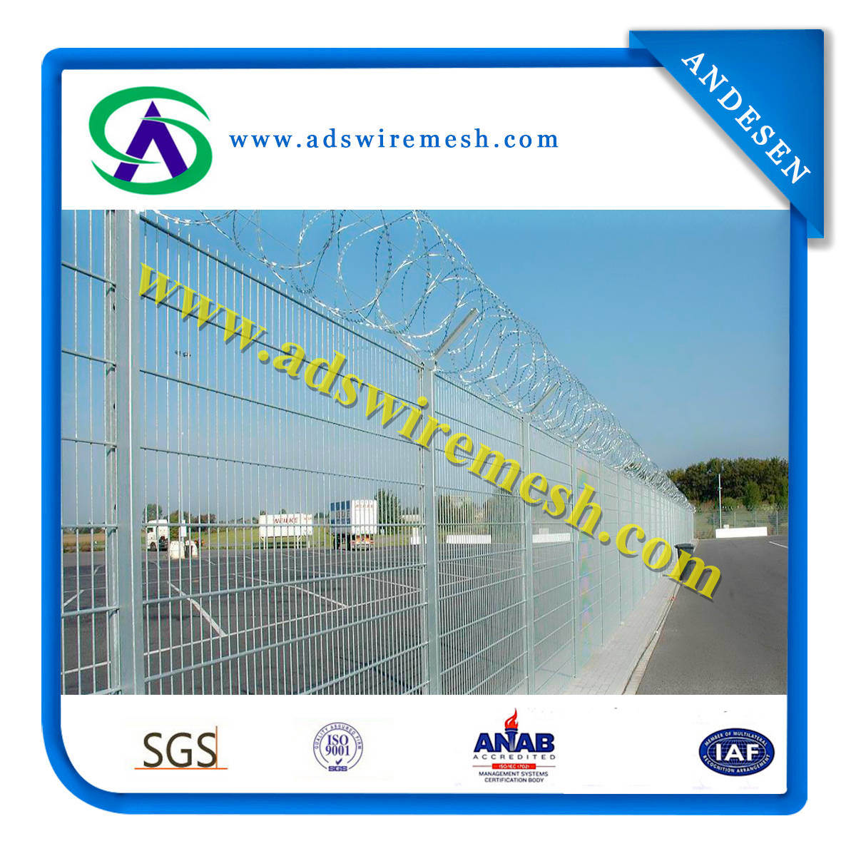 2015 Hot Sale Security Fence for Prison and Air Port