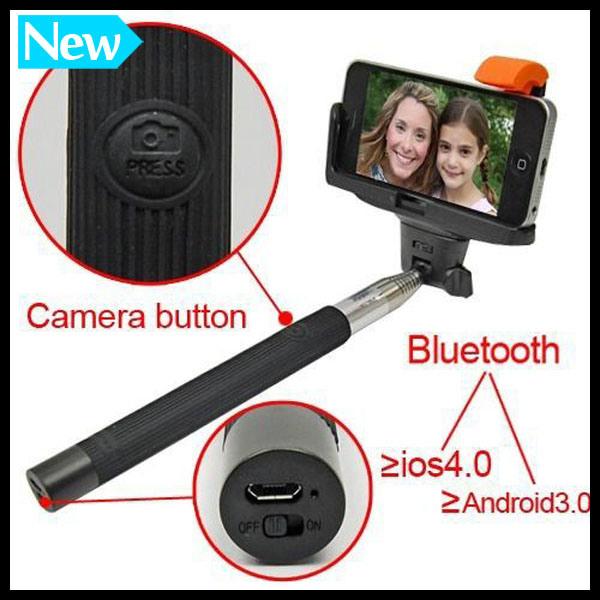 Popular Phone Accessories Selfie Stick Monopod with Bluetooth Shutter