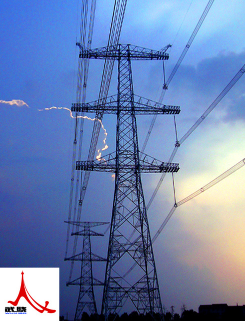Angular Electric Power Transmission Tower