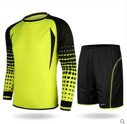 Healong Fashion Design, Colorful Football Goalkeeper Set Jerseys Uniforms Shirts