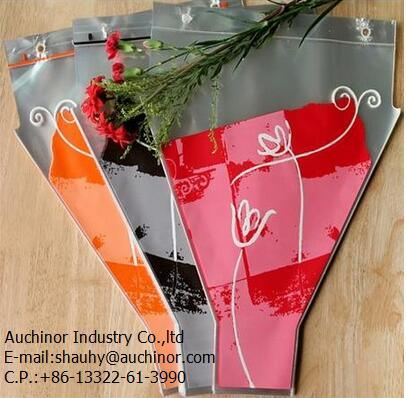 OPP Fresh Flower Packaging Bag with Custom Printing