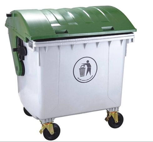 1200lt Round Lid Plastic Dustbin