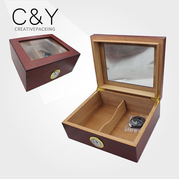 Custom Matte Lacquer Spanish Cedar Wood Cigar Humidor