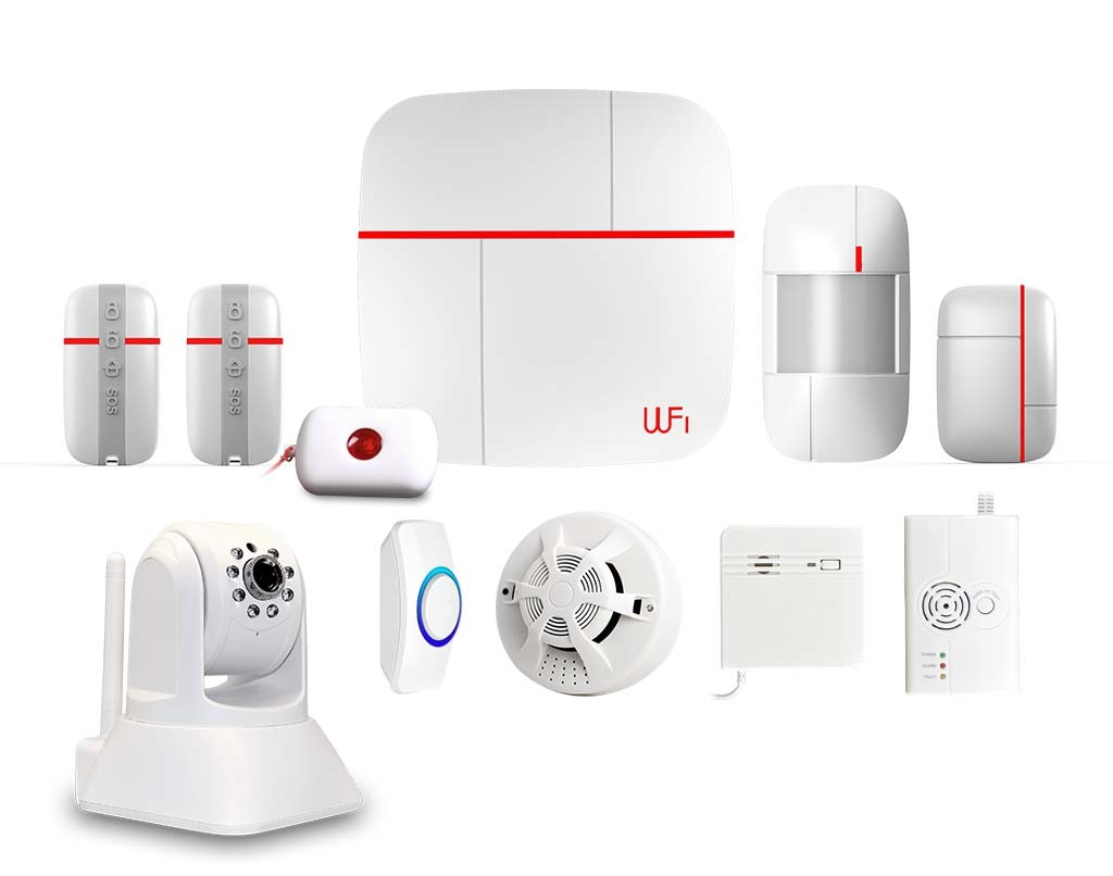 Smart GSM WiFi Alarm System with Camera Optional (ES-VCARE-B)