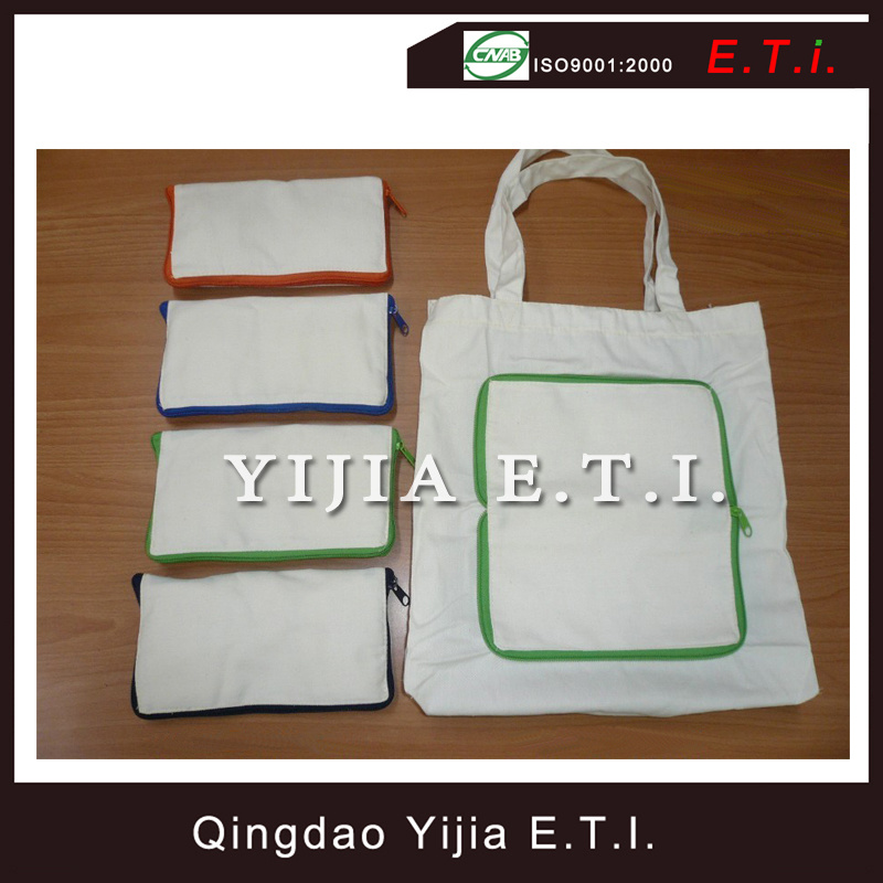 Eco Friendly Cotton Canvas Foling Shopping Bag
