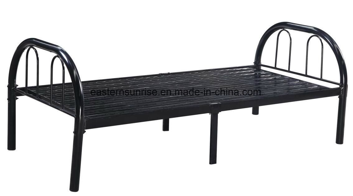 White Powder Coated Metal/Steel/Iron Single Bed