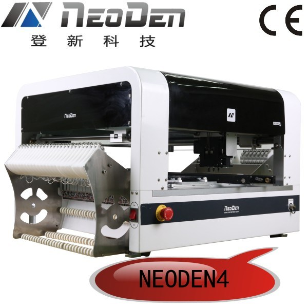 Pick and Place Low Cost, SMT Equipment, 48 SMT Feeders, 2 Cameras, 4 Heads, Support 0201-5050 Bulb, LED Strip, Qfn, BGA