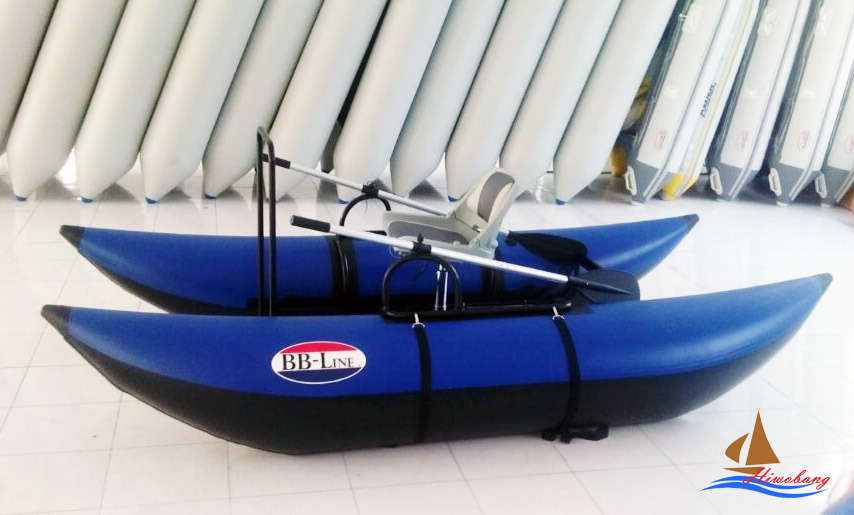 China inflatable pontoon boat fly fishing boat photos for Inflatable pontoon boat fishing
