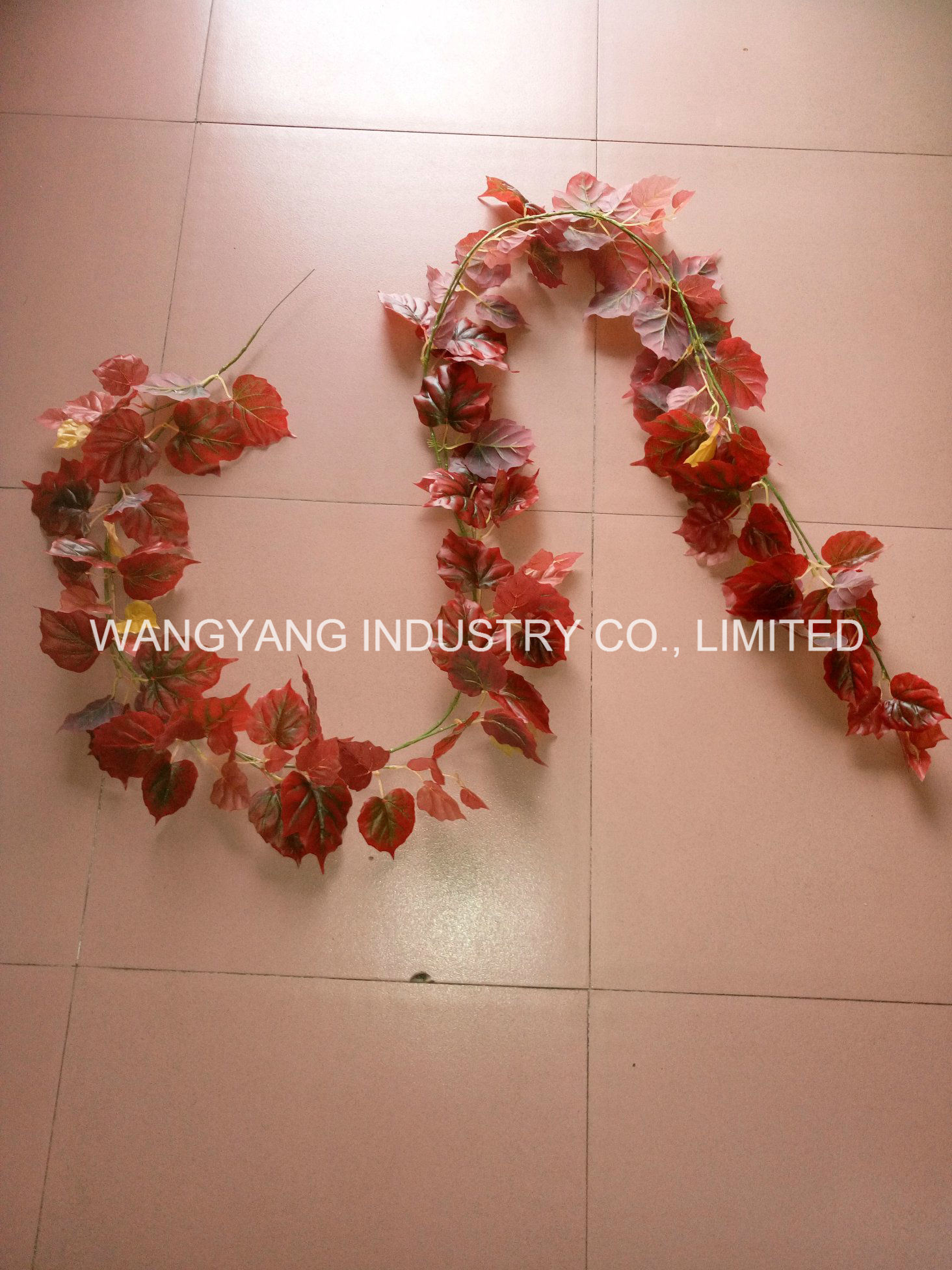 Factory Hot Sale Artificial Fake Synthetic Hang Rattan Leaves