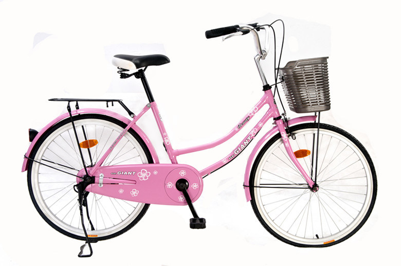 "Ladies Bicycle 24"" Steel Painted Frame with Double Stand (HC-CT-2607)"