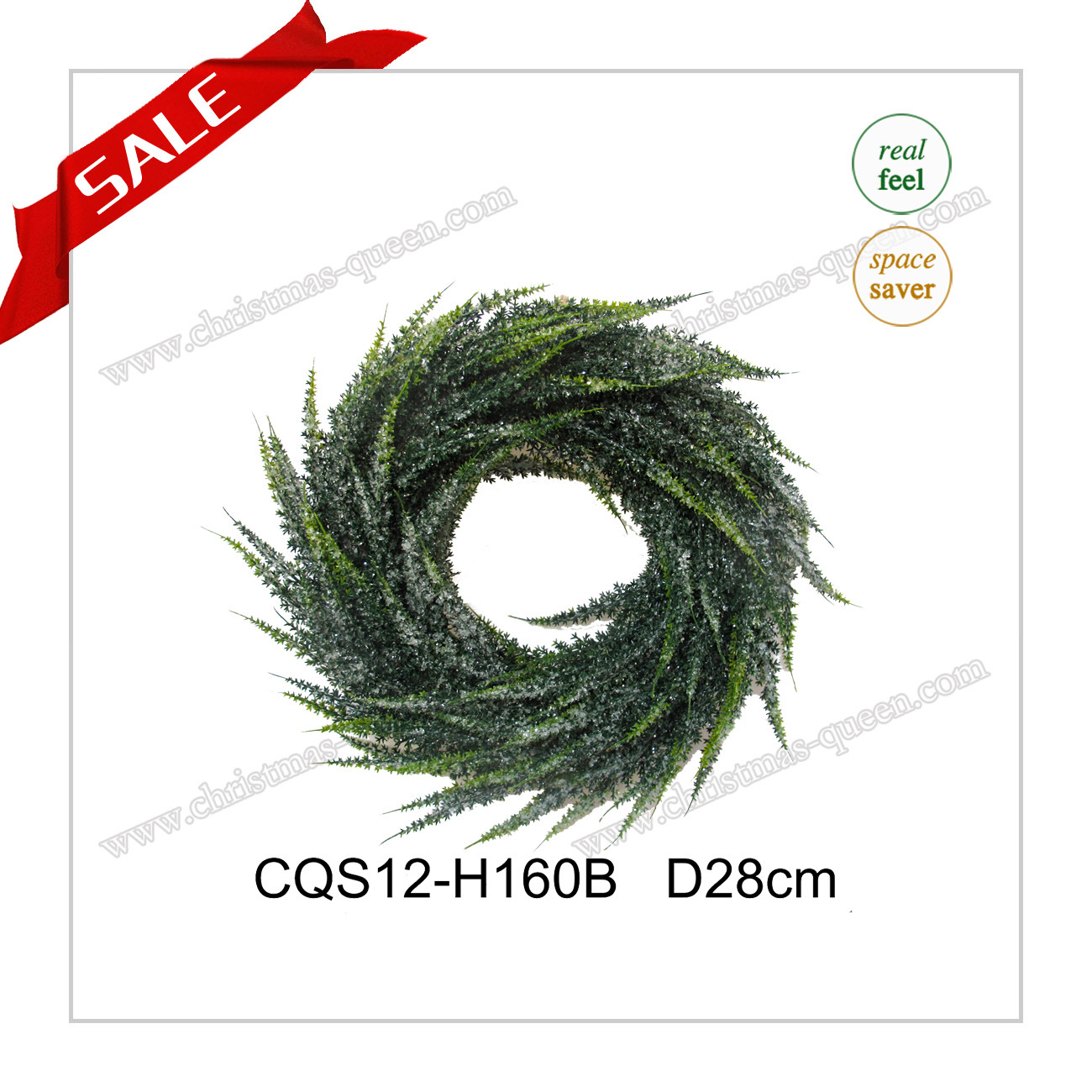 D22cm Wall Art Plastic Christmas Wreath Artificial Flower Craft