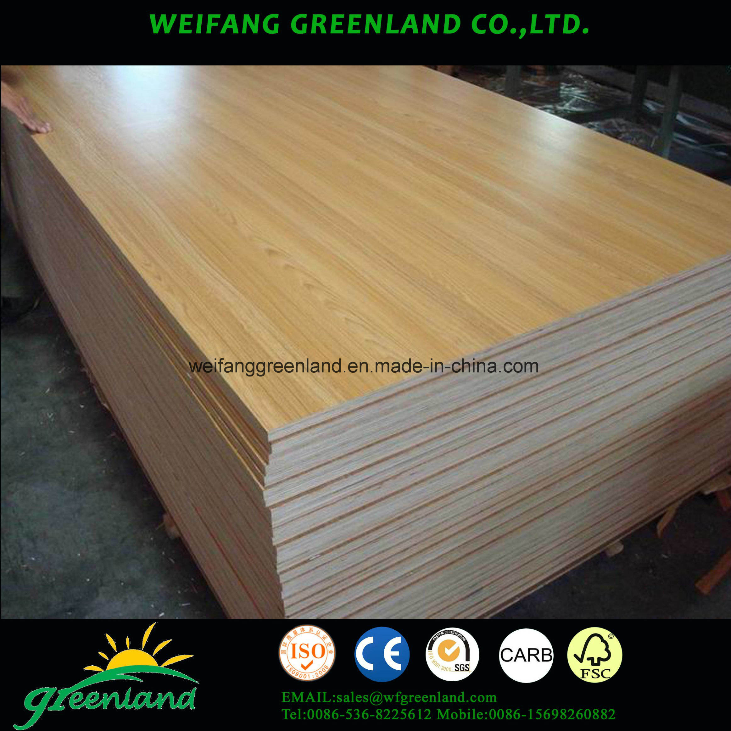 15mm Laminated Plywood Board for Furniture