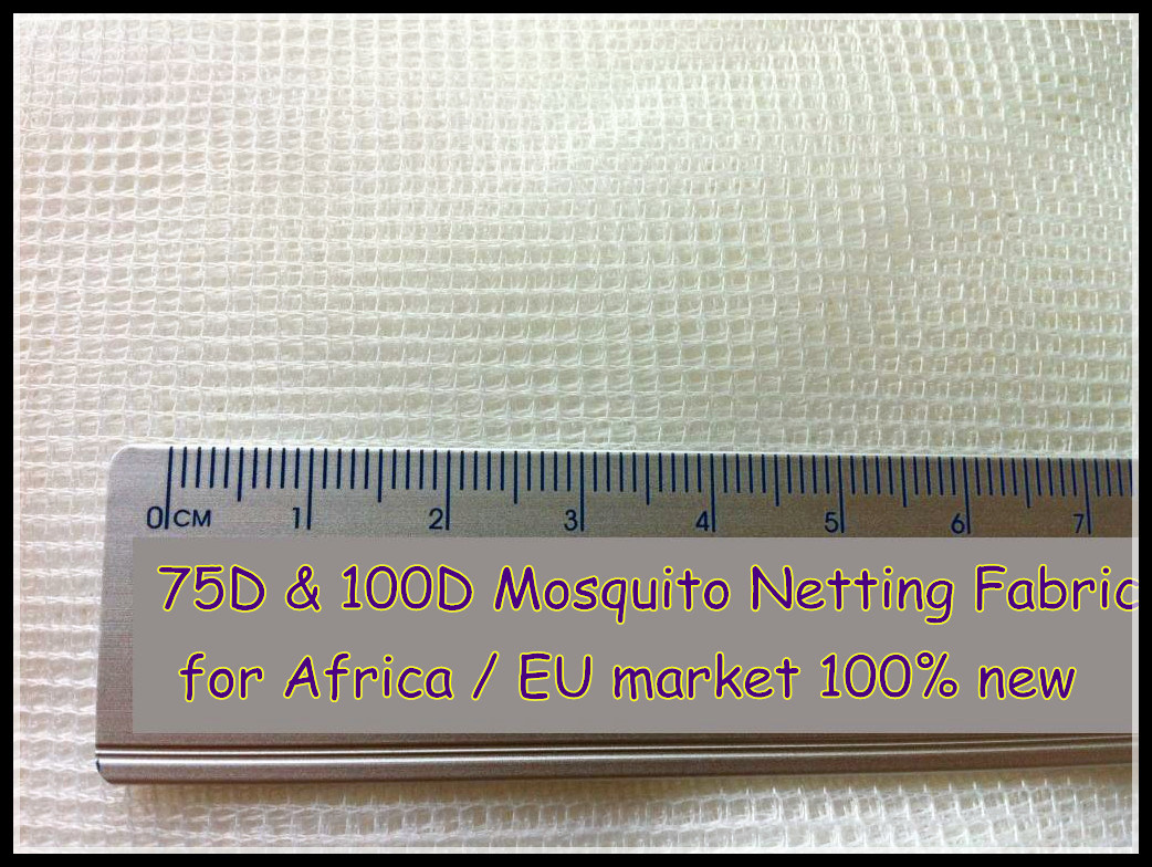 Warp Knitted Polyester Mosquito Net Fabric 75D & 100d Exported to EU and African Market
