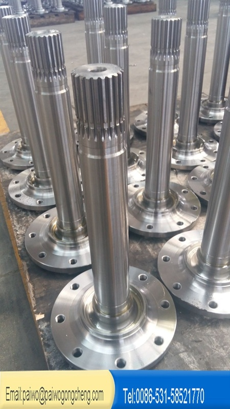 Customized Forged Alloy Steel AISI4140 4130 Spline Shaft