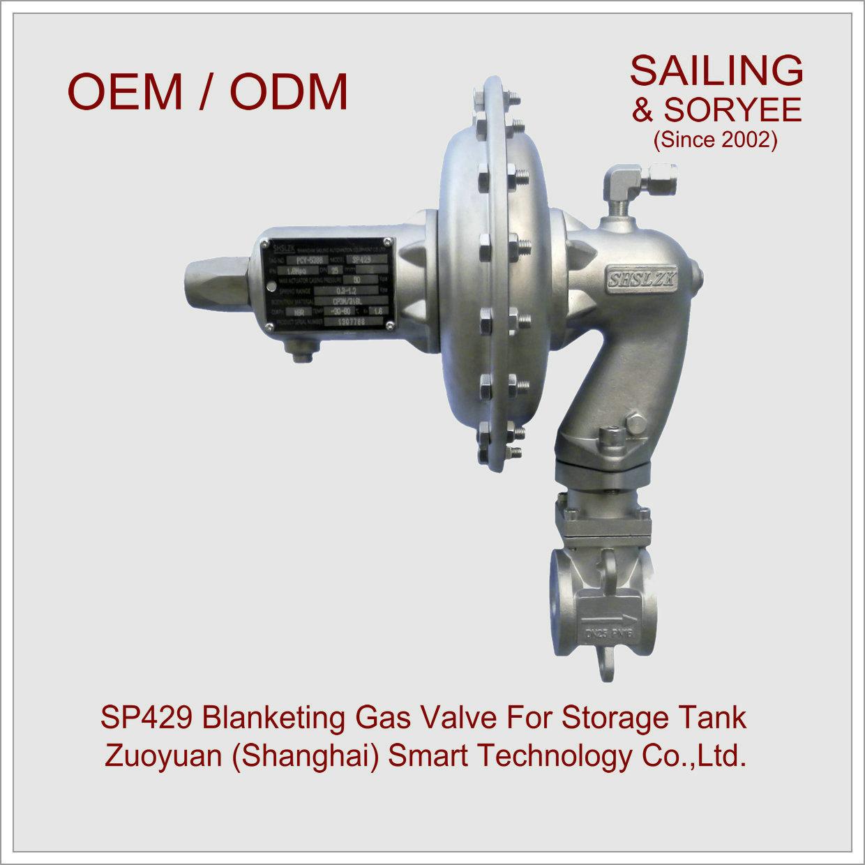 "1/2"" Sp429 Tank Blanketing Gas Pressure Regulating Control Valve"