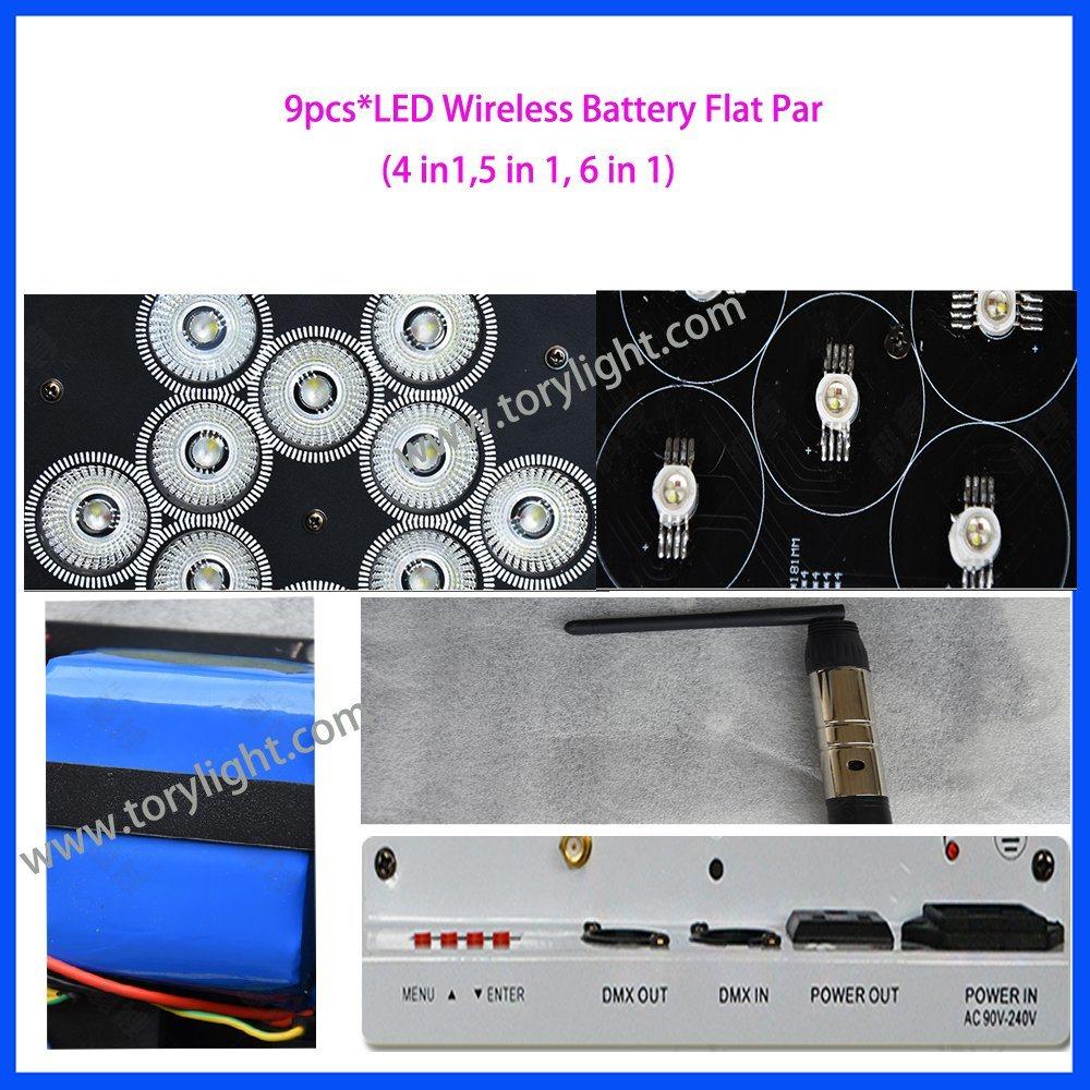 LED Stage Battery 9PCS*15W PAR Light
