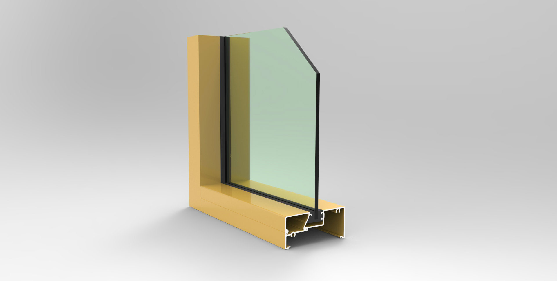 OEM Aluminium Extrusion Profile for Windows, Doors and Curtain Walls