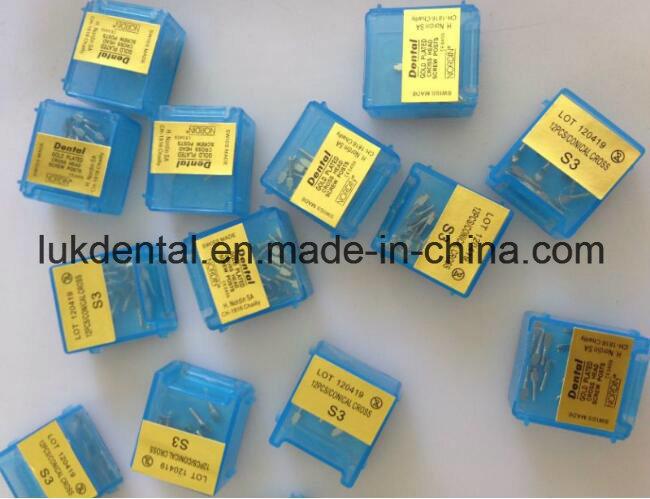 Hot Sale Nordin Dental Screw Post of Golden Plated Implant