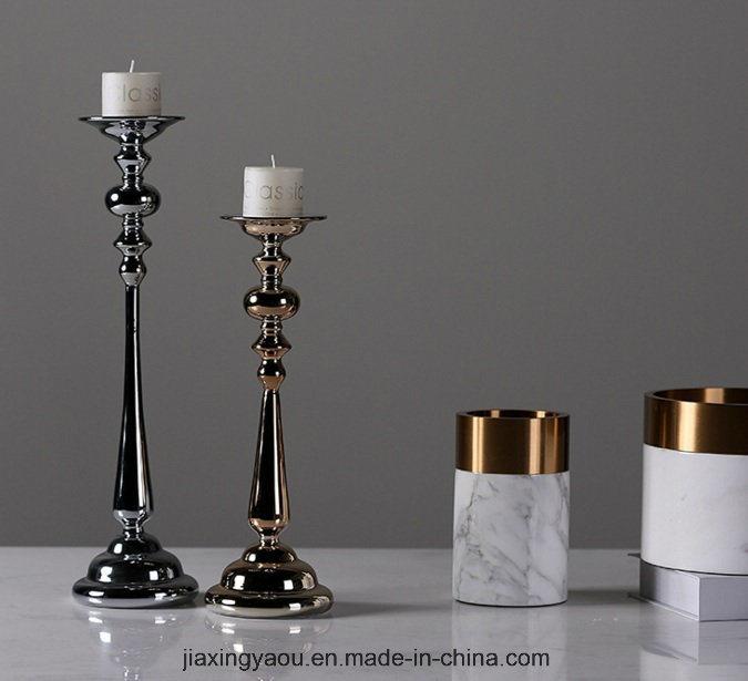 Electroplate Glass Candelabrum (silver)