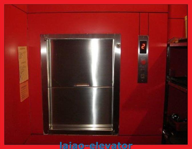 Cheap Manual Open Sliding Door Dumbwaiter Goods Elevator