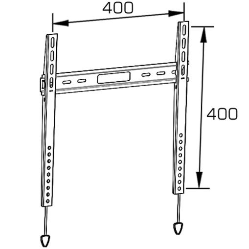 Economy Fixed TV Wall Mount Fit for 21-55′′