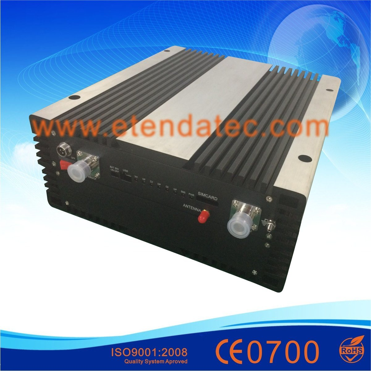 20dBm to 43dBm Band Selective & Industrial Signal Booster with Remote Monitor and Control Repeater
