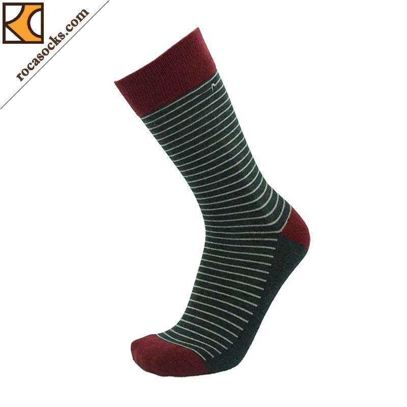 Classical Men′s Port Striped Crew Socks (163013SK)