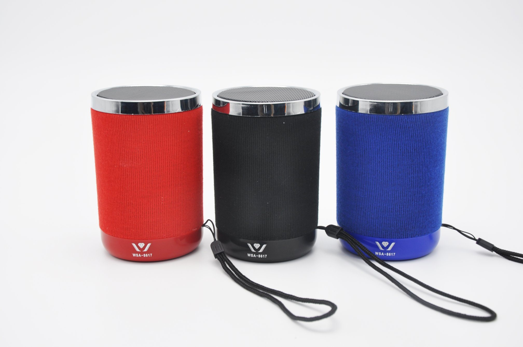 Fabric Mini Portable Wireless Bluetooth Speaker Wsa-8617 (Daniu brand) Withfm Radio, TF Card, USB, Aux in