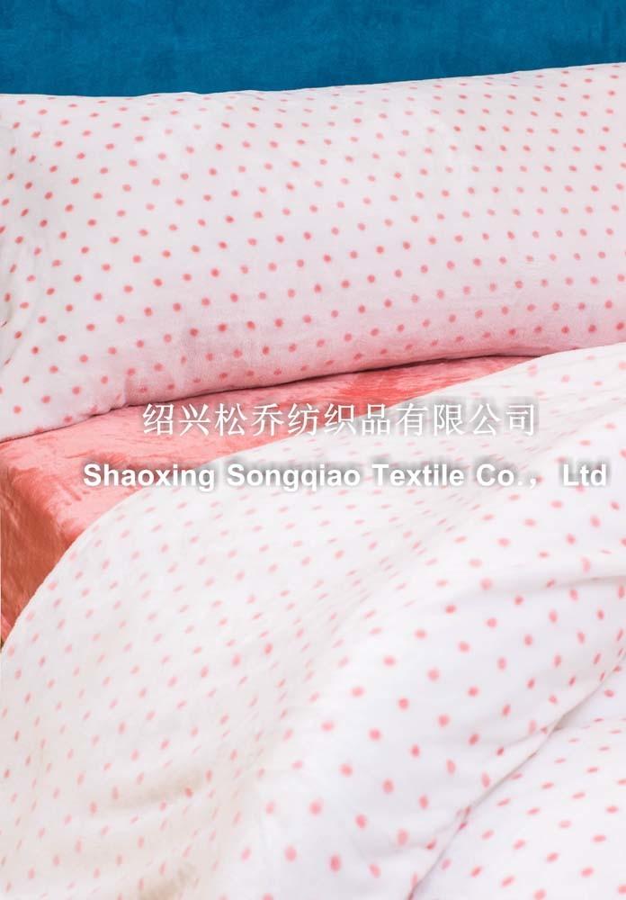 100% Polyester Printed Coral Fleece Blanket - DOT
