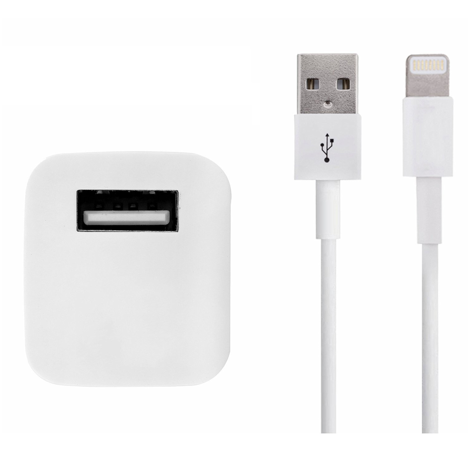 5W USB Power Adapter Plus 1m Lightning Cable Charger for iPhone 55c5s66 Plus 77plus (Certified Refurbished)