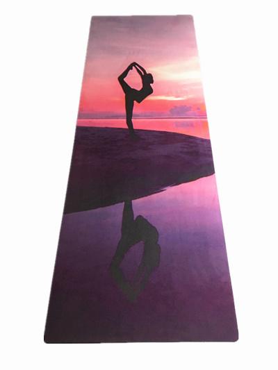 Printed Yoga Pilate Mat Wet Absorbent Anti Slip Folding Yoga Mat