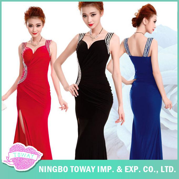 Prom Ladies Sexy Evening Placketing Vintage Black Dress