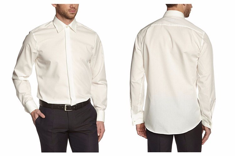 Men′s Classic Fit Long Sleeve Gent Dress Shirt