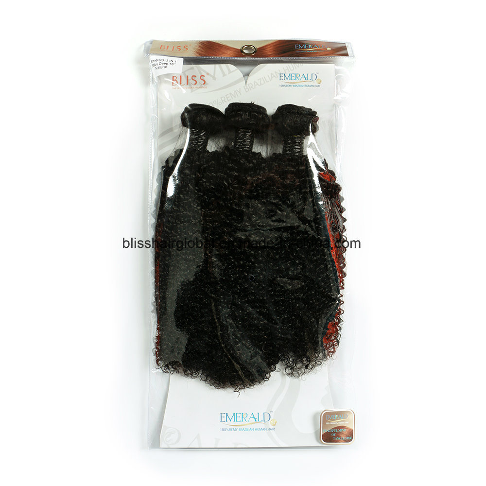 Brazilian Virgin Hair Baby Deep Curl Natural Color 3 Pieces in One Pack
