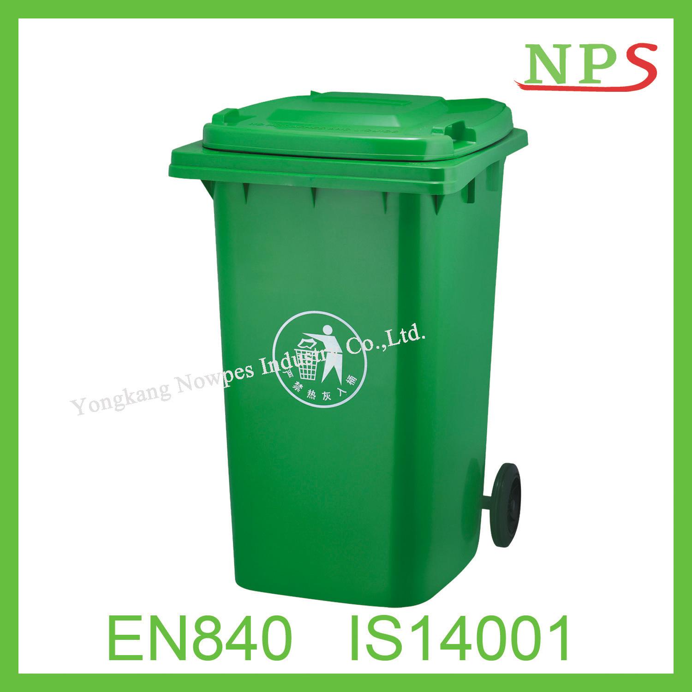 Eco-Friendly 120L/240L Plastic Waste Bin with Two Wheel