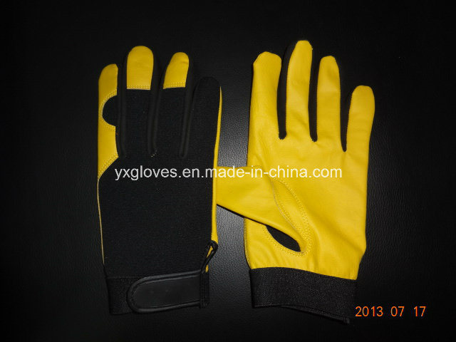 Work Glove-Working Leather Glove-Safety Glove-Mechanic Glove-Labor Glove-Leather Glove