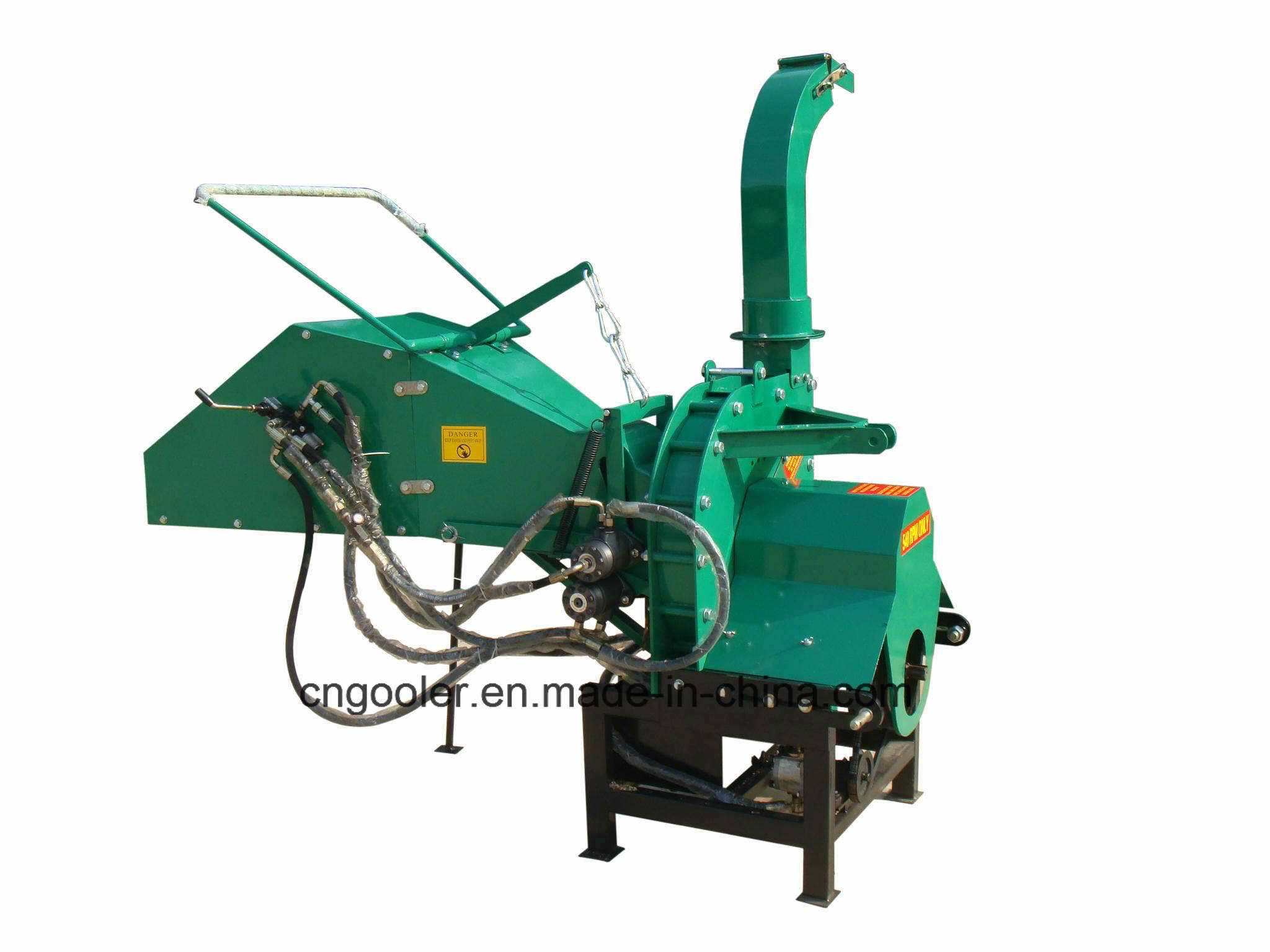 Tractor Pto Wood Chipper Th-8, Hydraulic Feeding, Ce Approval