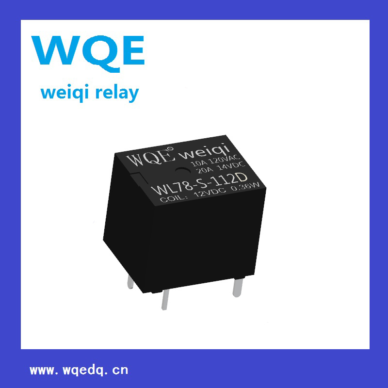 (WL78) Miniature Automotive Relay Black Cover Auto Parts for Automobile