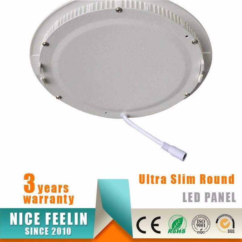 24W Ultra Slim Round LED Ceiling Light Panel