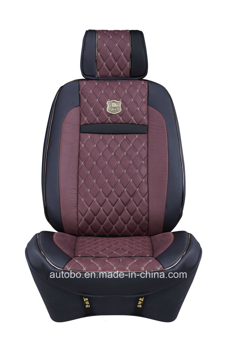 Car Seat Cover 3D Shape with Four Season Leatherette-Red Brown