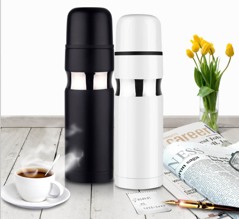 500ml Colored Double Wall Vacuum Flask with String