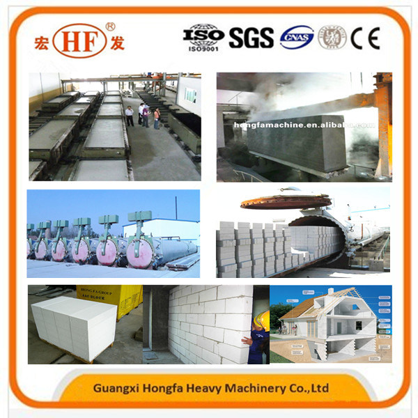 Full Automatic Aerated Autoclaved Concrete AAC Block Making Machine