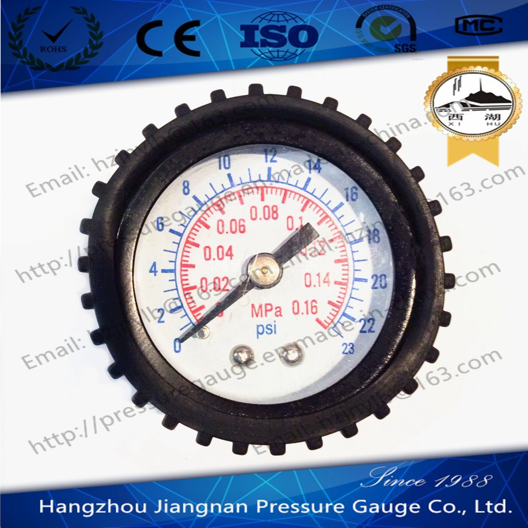 40mm 1.5′′ General Pressure Gauge with Black Rubber Case
